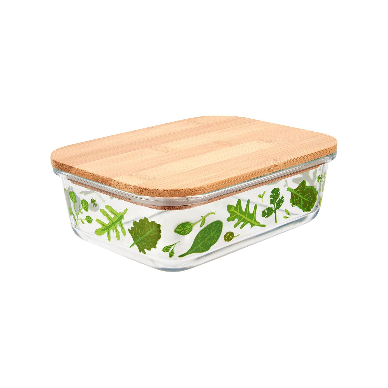 Powered By Plants Glass Storage Box - Large (Was £16.00)