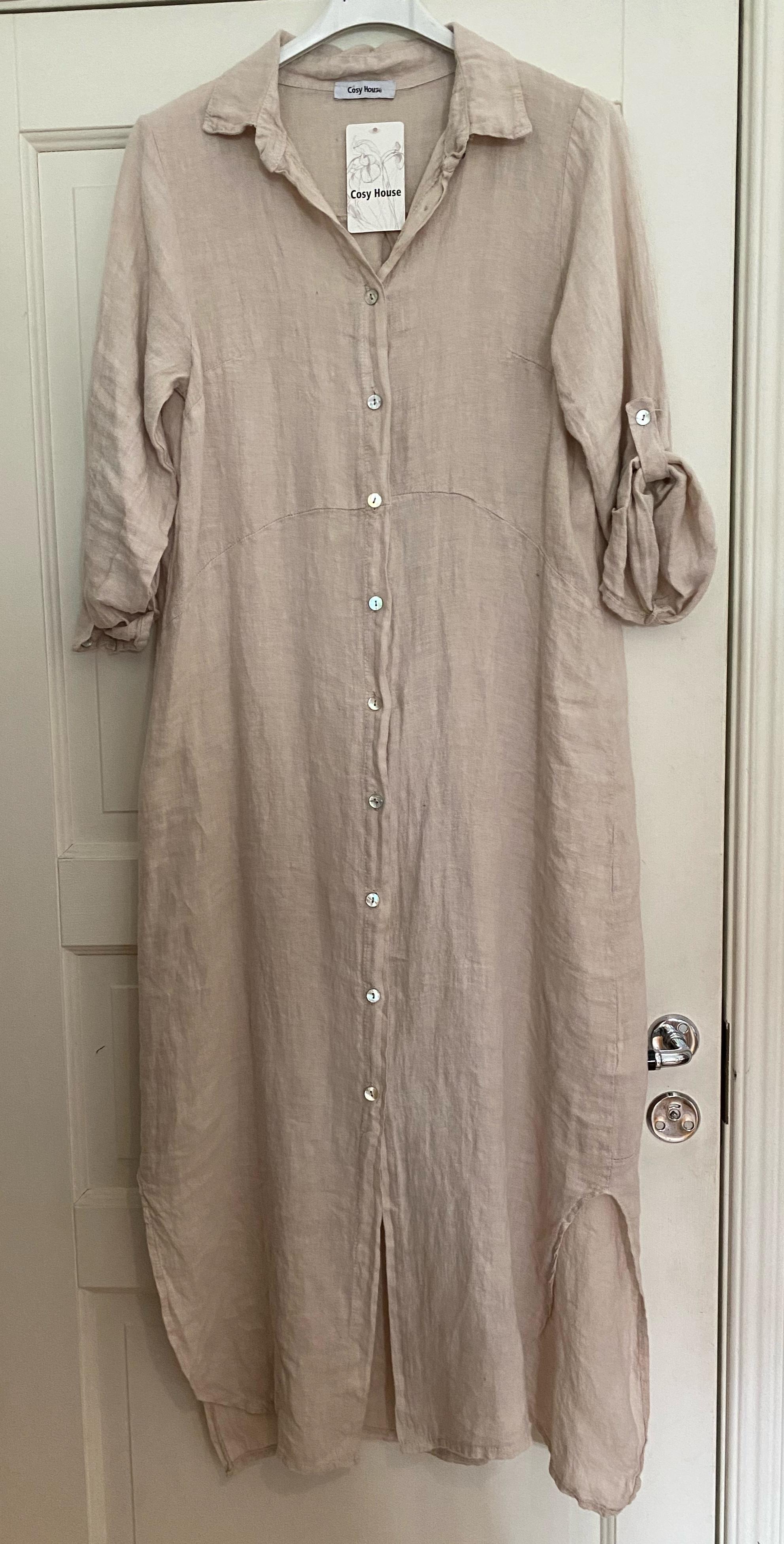Långskjorta i linne