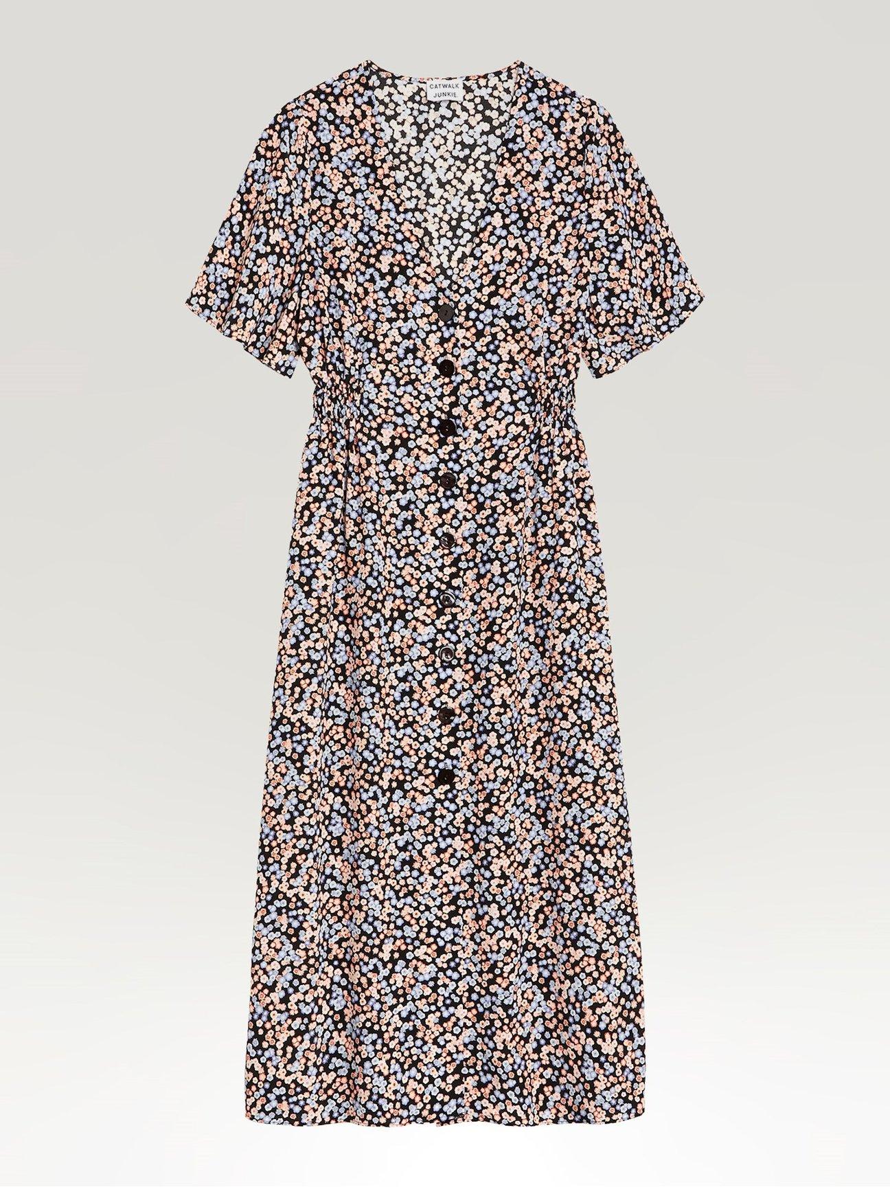 Småblommig klänning