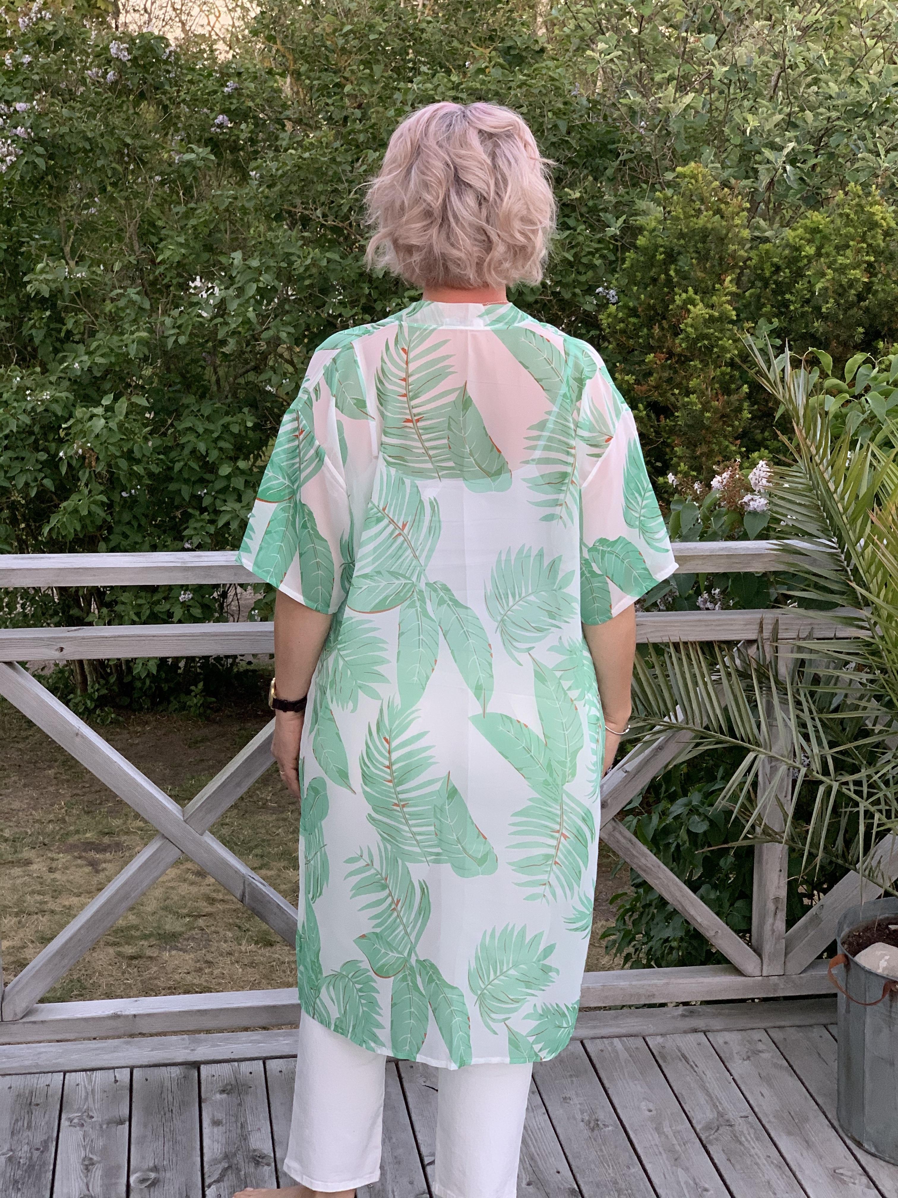 Kimono med palmblad