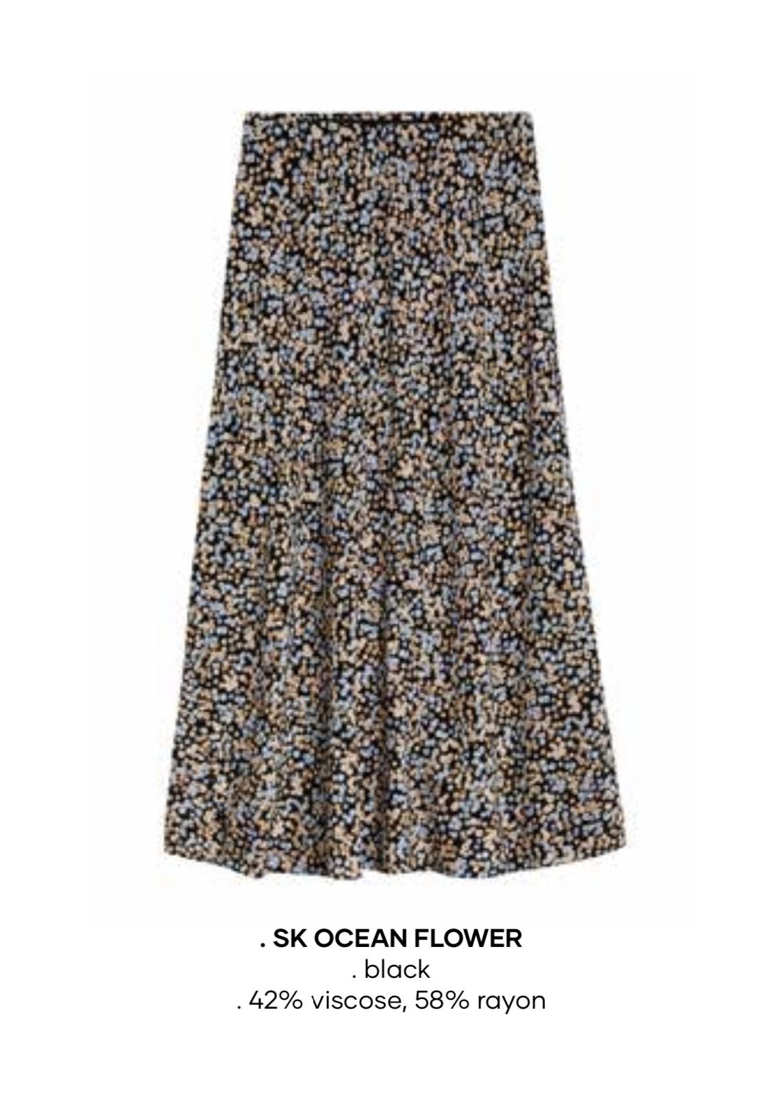 Småblommig kjol
