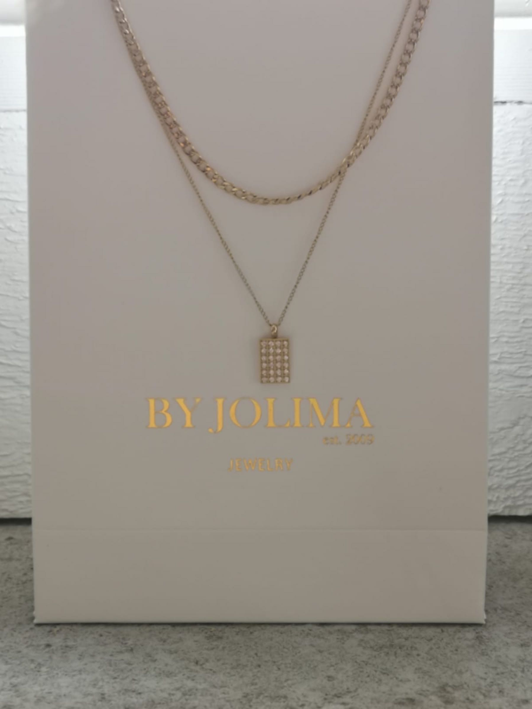 Terry double layer neclace