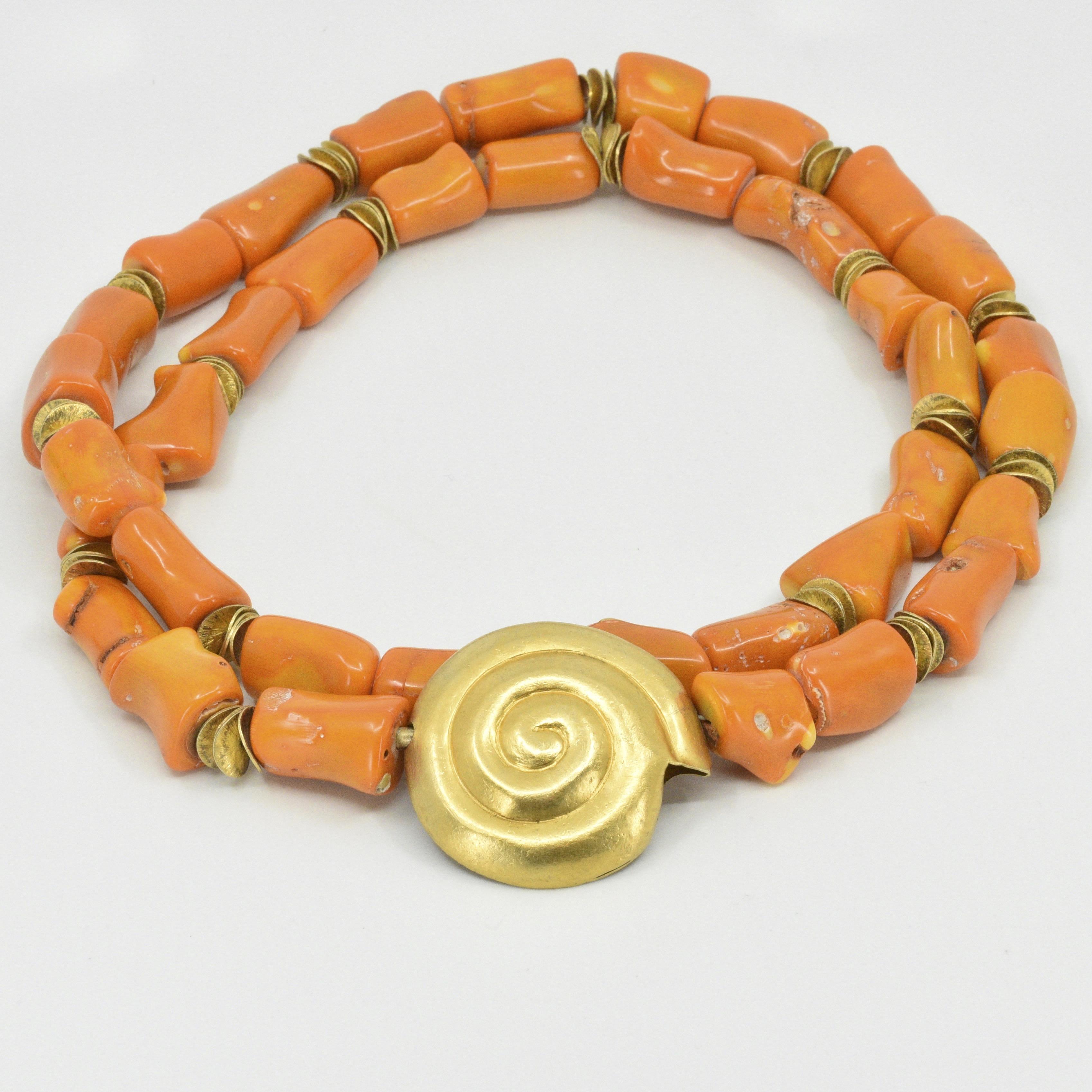 Kette | Orange Koralle | Michael Kunze
