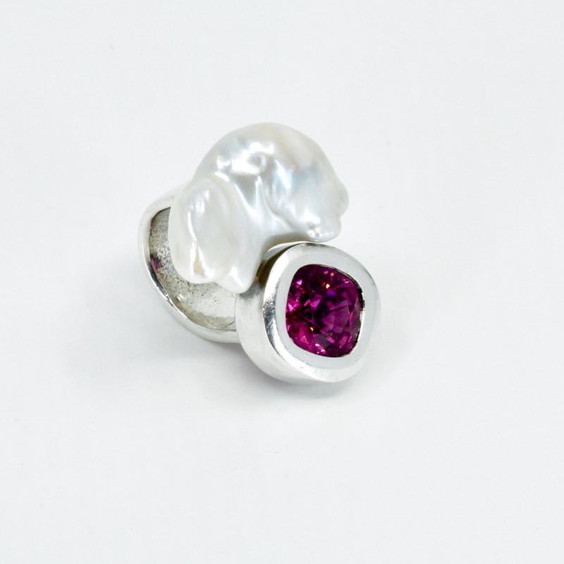 Ring | Turmalin & Perle | Michael Kunze