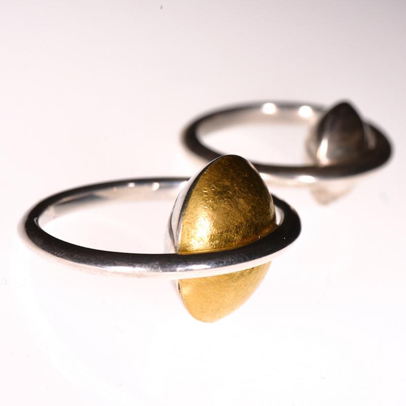 Ring | Saturn Silber & Feingold | Anina Caracas
