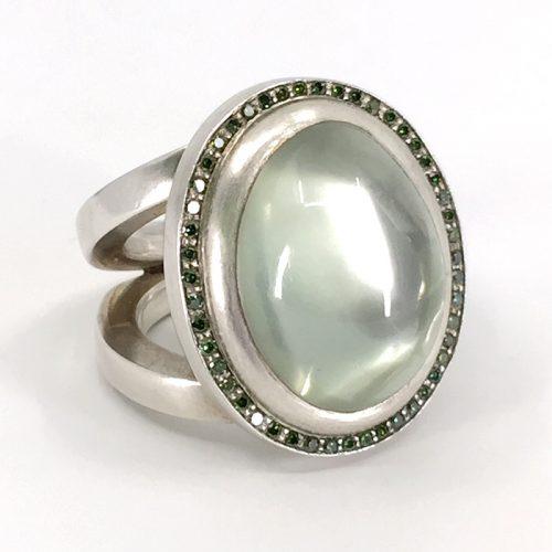 Ring | Diamanten & Mondstein | Anina Caracas