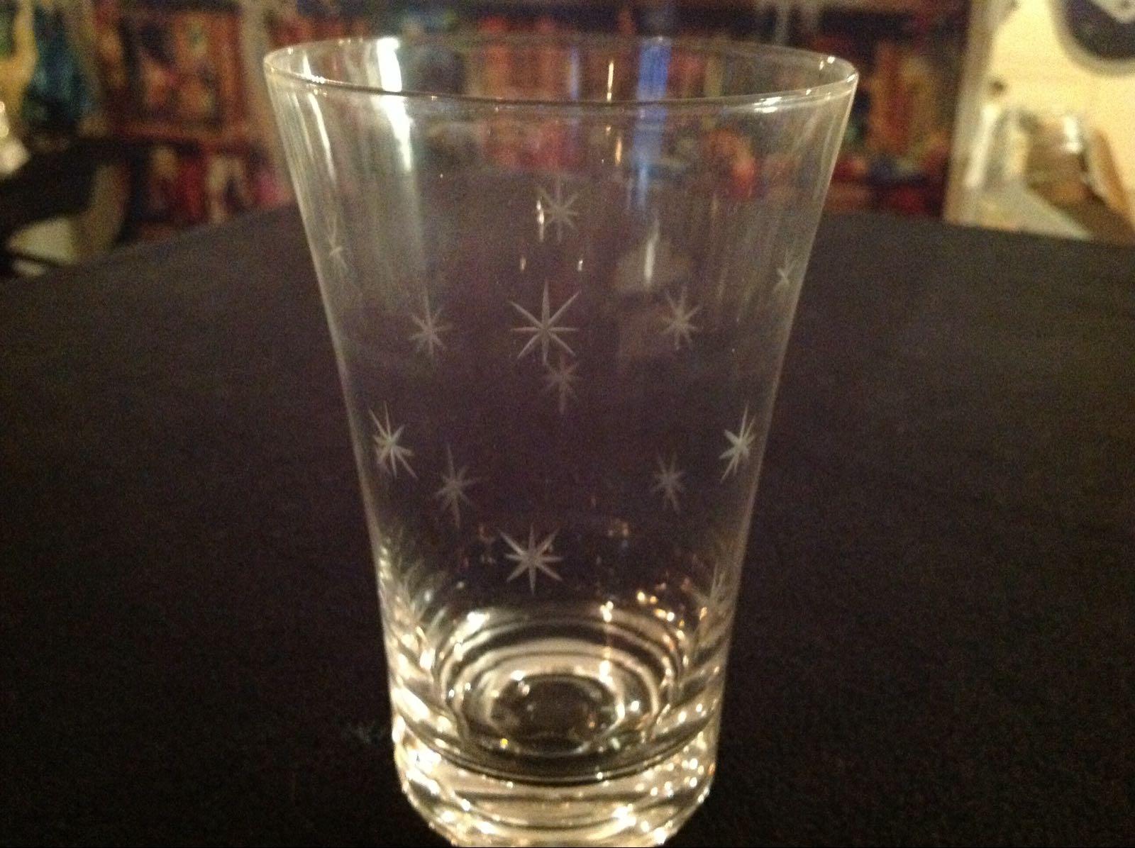 Glas med stjärnor 5st (second hand, vintage, retro)