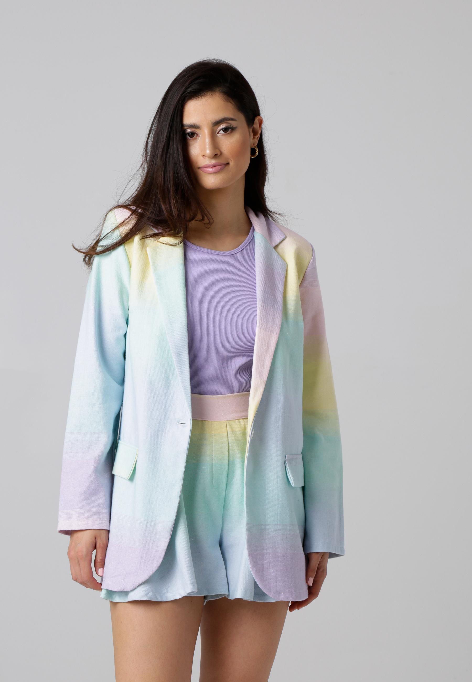 MiaZAYA Rainbow Blazer