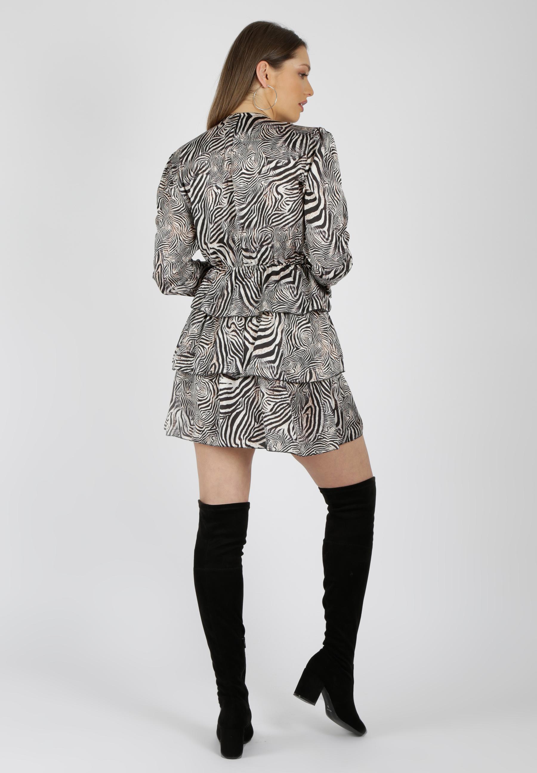 MiaZAYA Zebra Kleid Volants