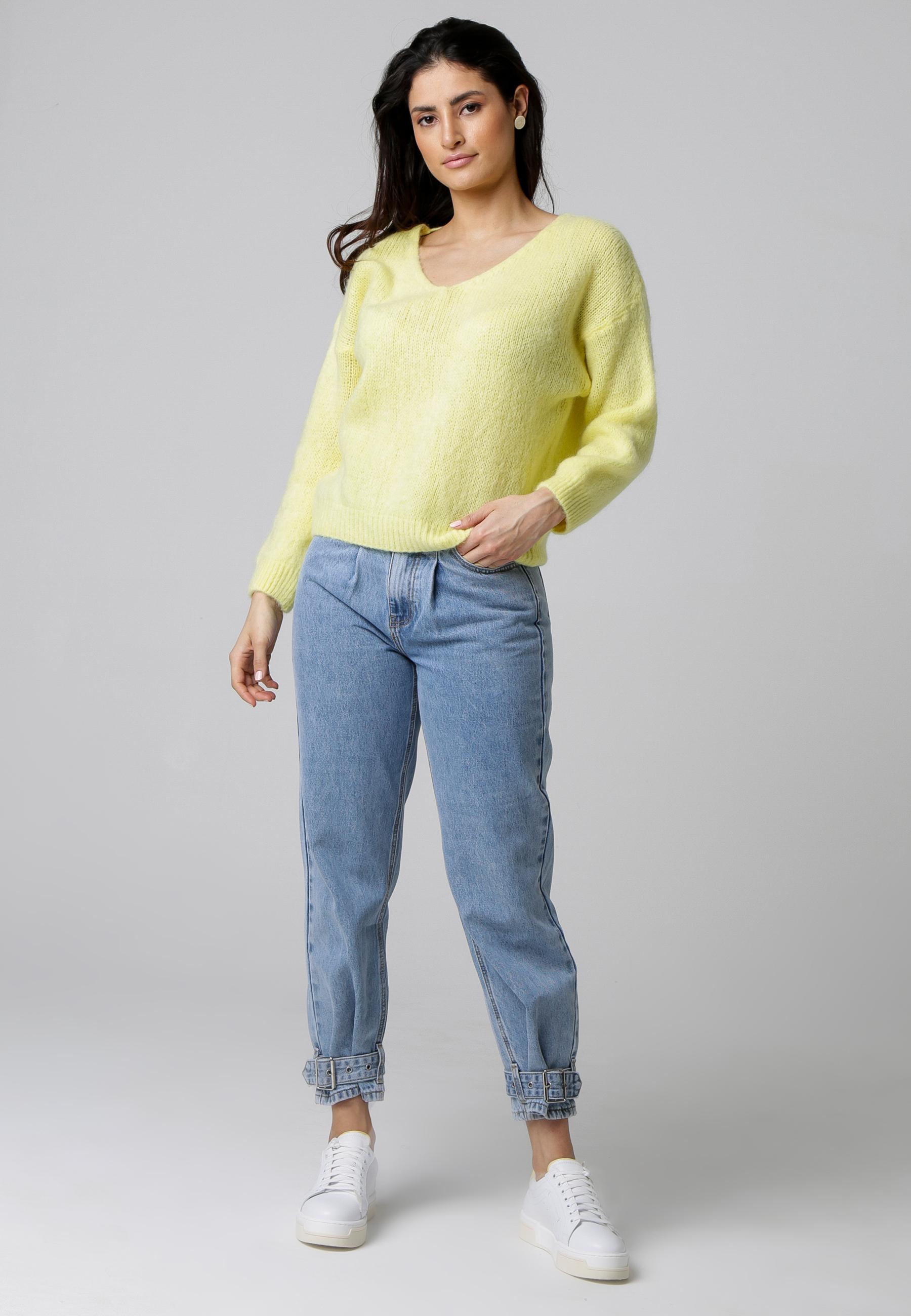 MiaZAYA Pullover V Schnitt