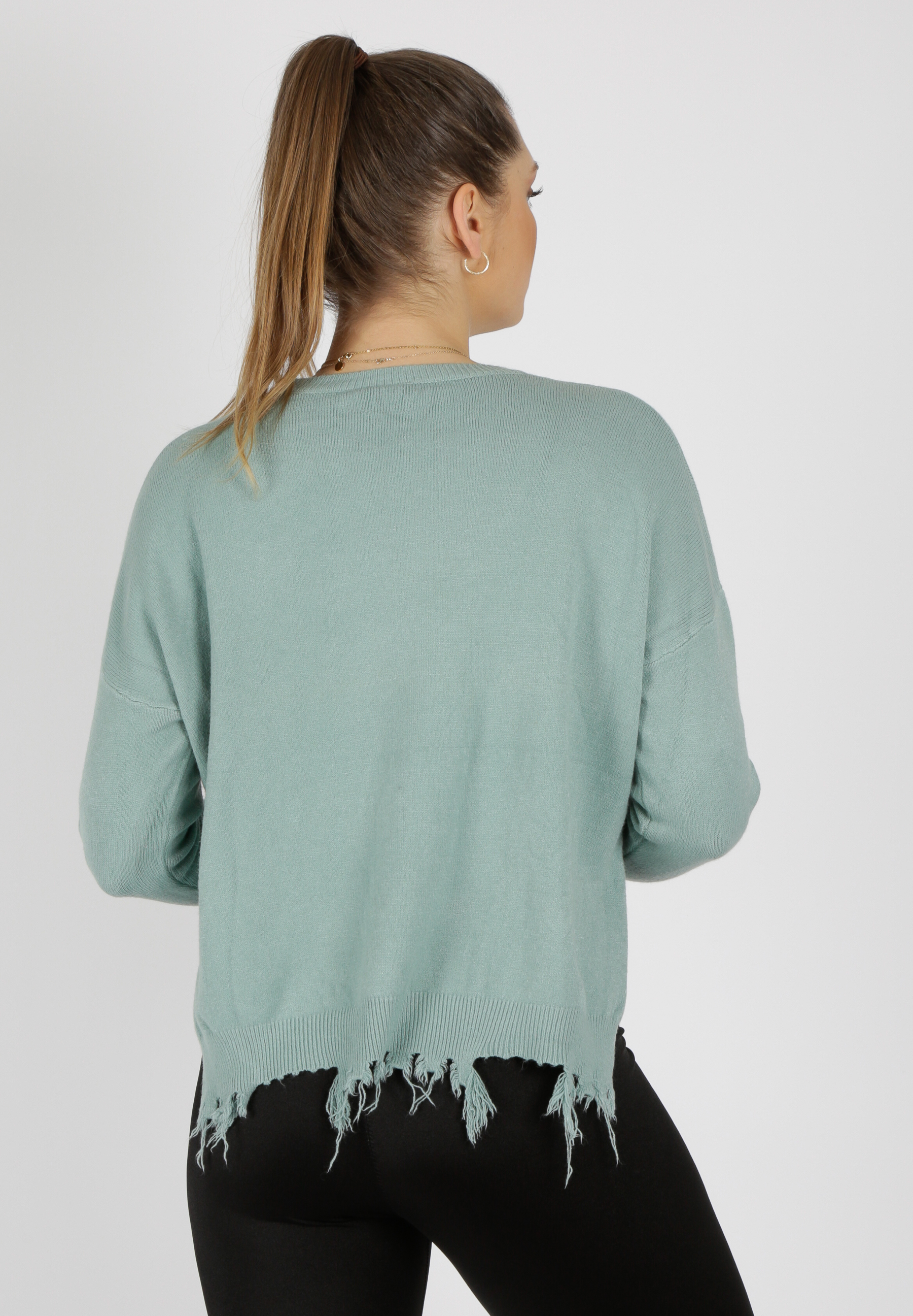 MiaZAYA Pullover Fransen