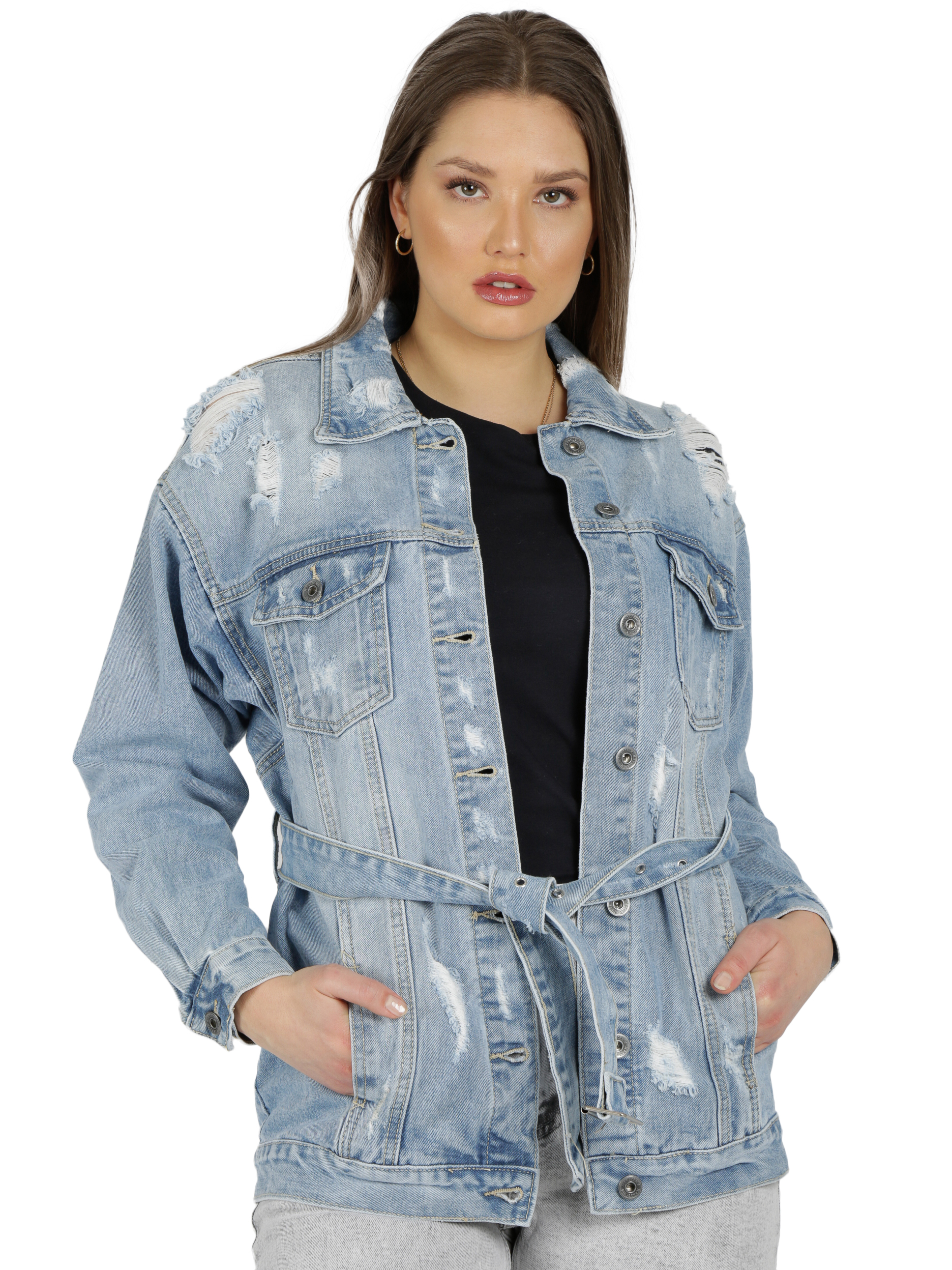 MiaZAYA Destroyed Jeans Jacke