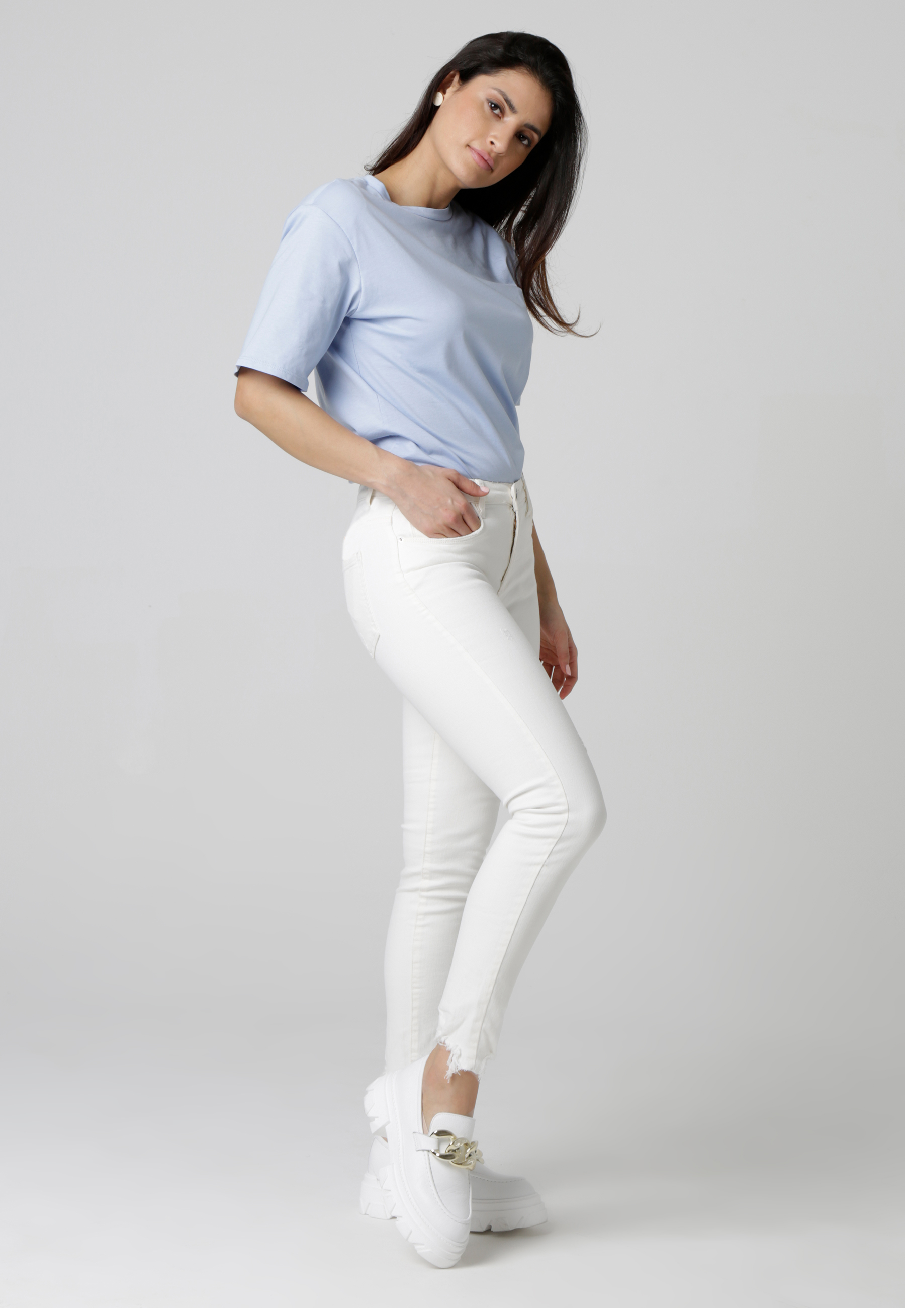 MiaZAYA Jeans weiß