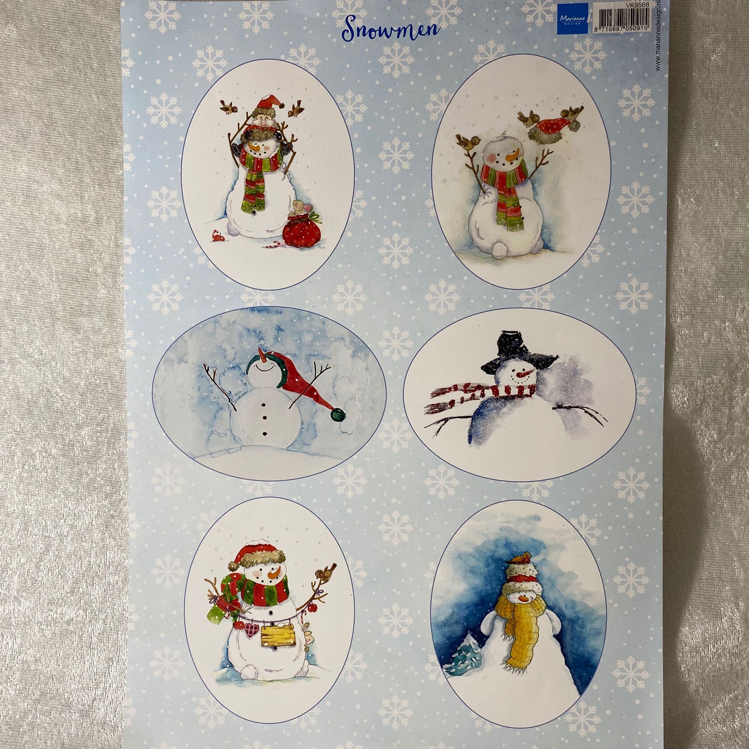 marianne design motivark A4 snowman