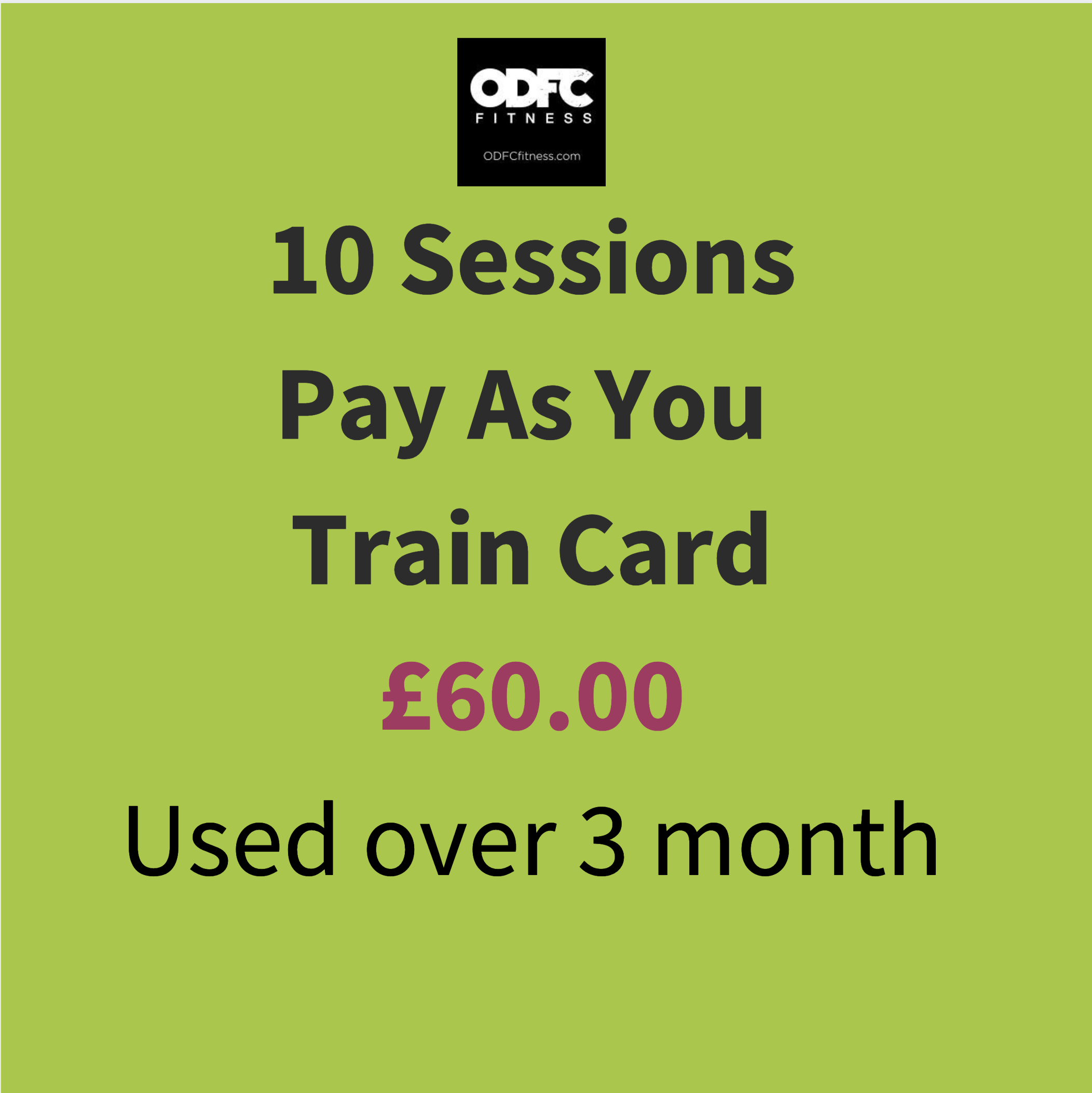 10 Sessions Pay As You Train Card