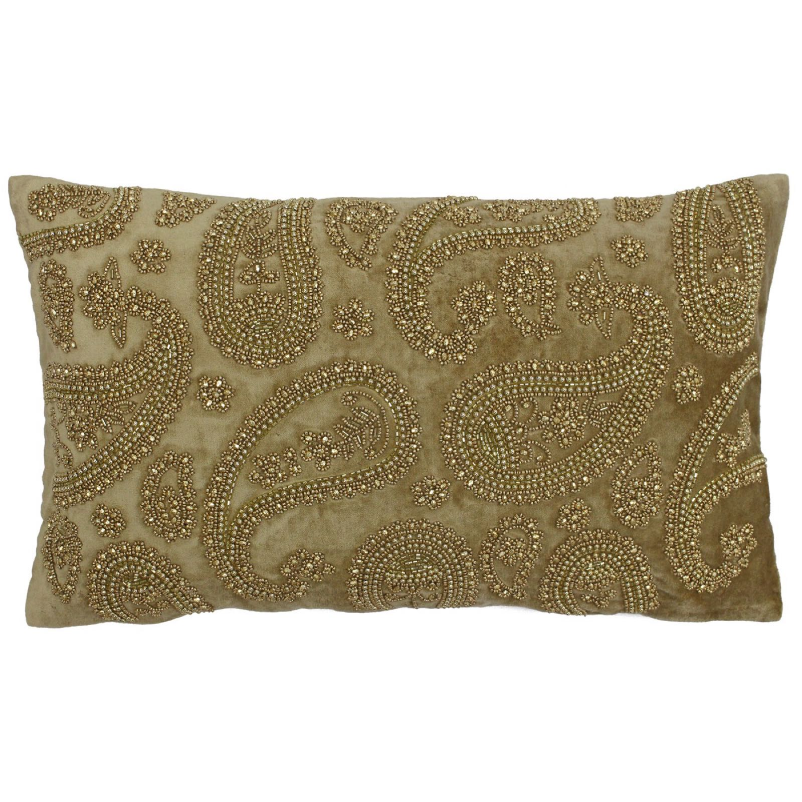 Cochin feather filled 30x50cm cushion in gold  was £35