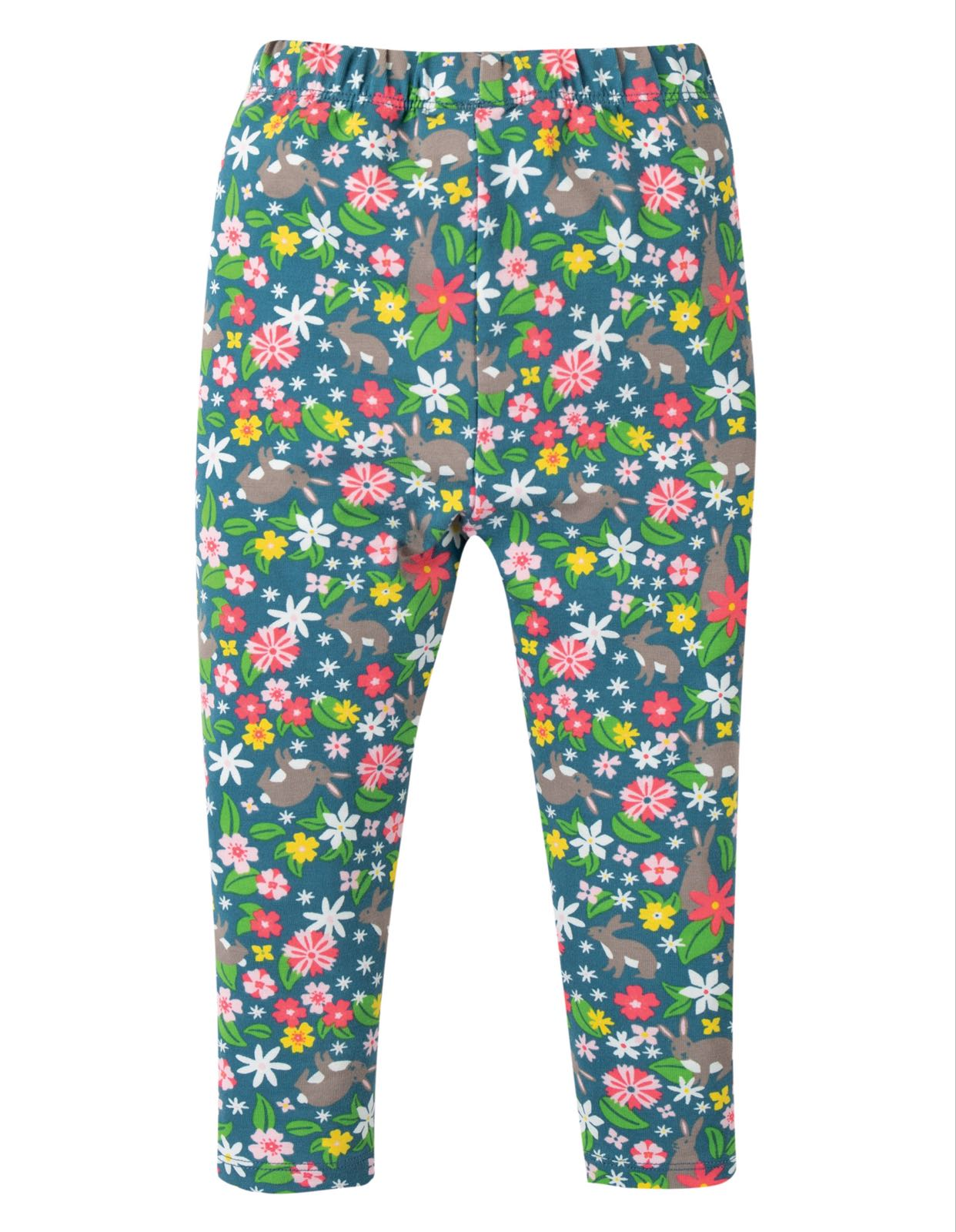 Frugi Libby Printed Leggings Rabbit Fields