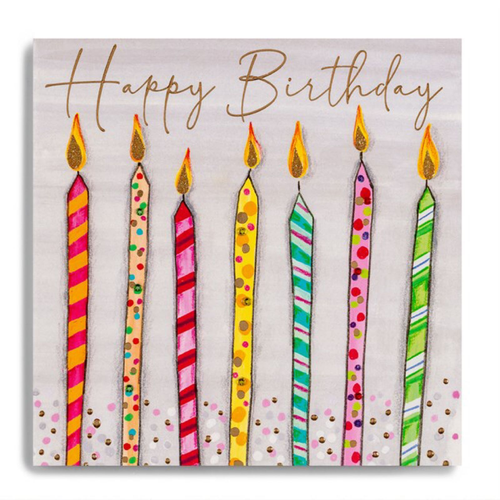 Janie Wilson Happy Birthday candles card