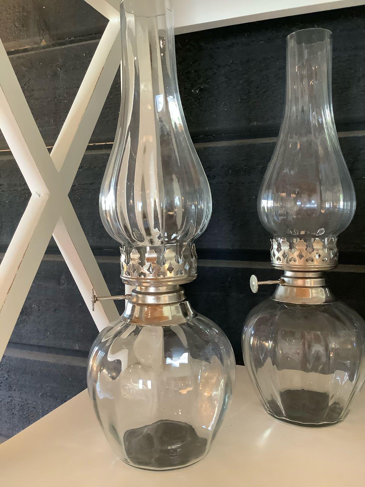 Lampa värmeljus glas