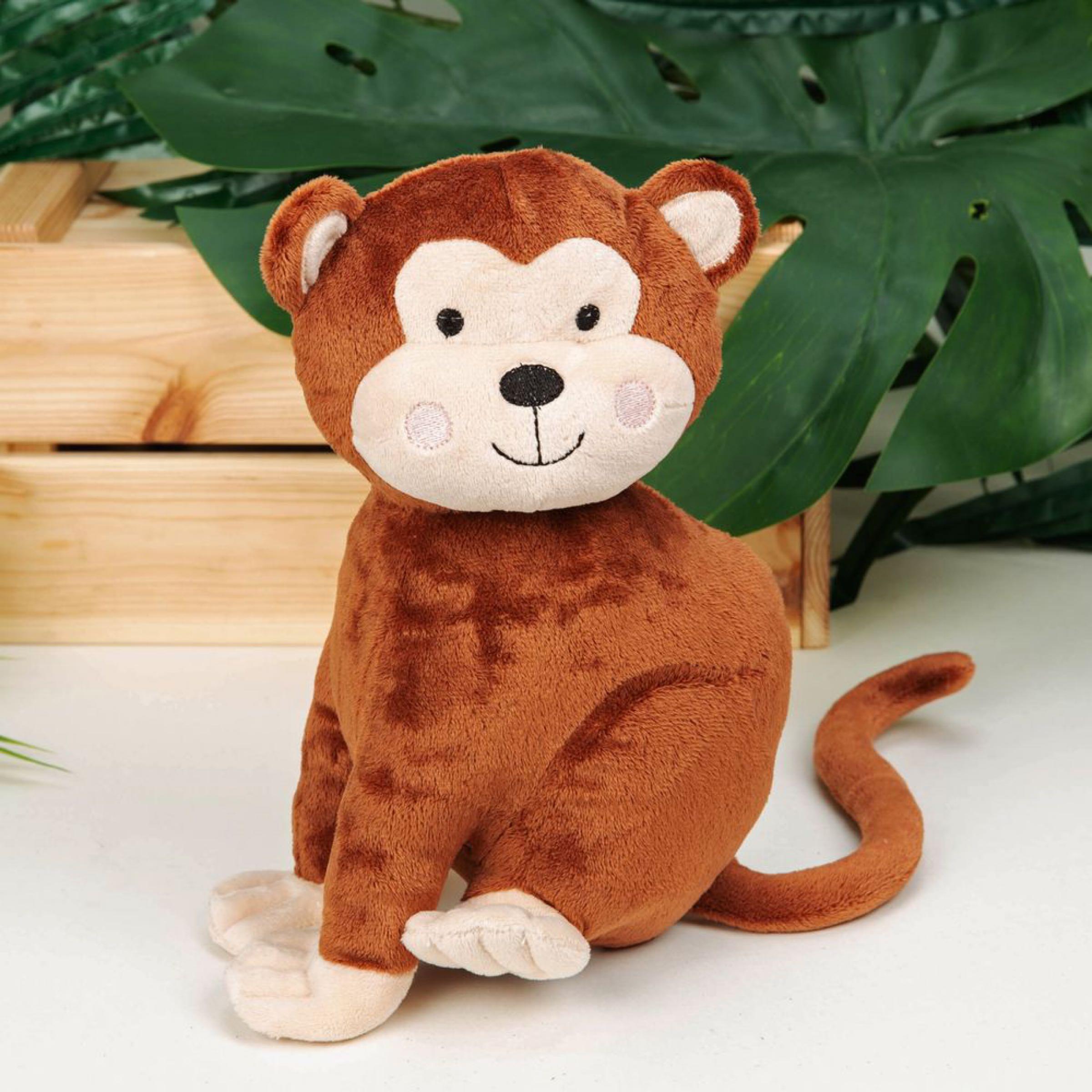 Jungle Baby Plush Monkey Toy 21cm