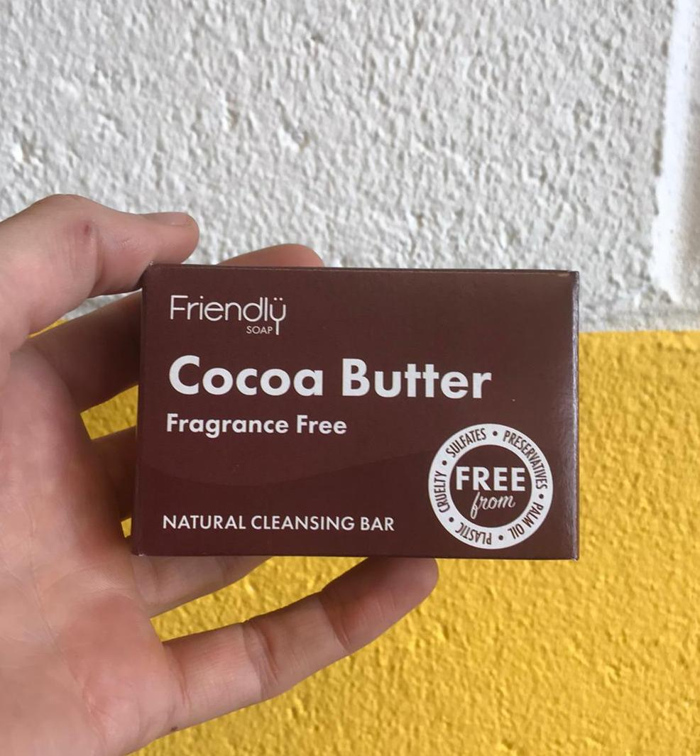 Cocoa Butter Natural Cleansing Bar | Friendly Soap