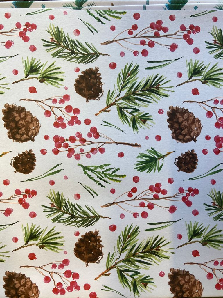 Recycled Gift Wrap Pine Cones