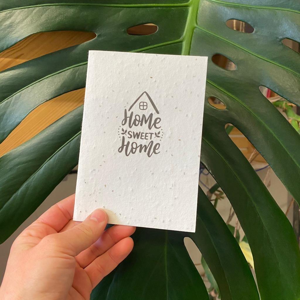 Home Sweet Home | Plantable Seed Paper Cards