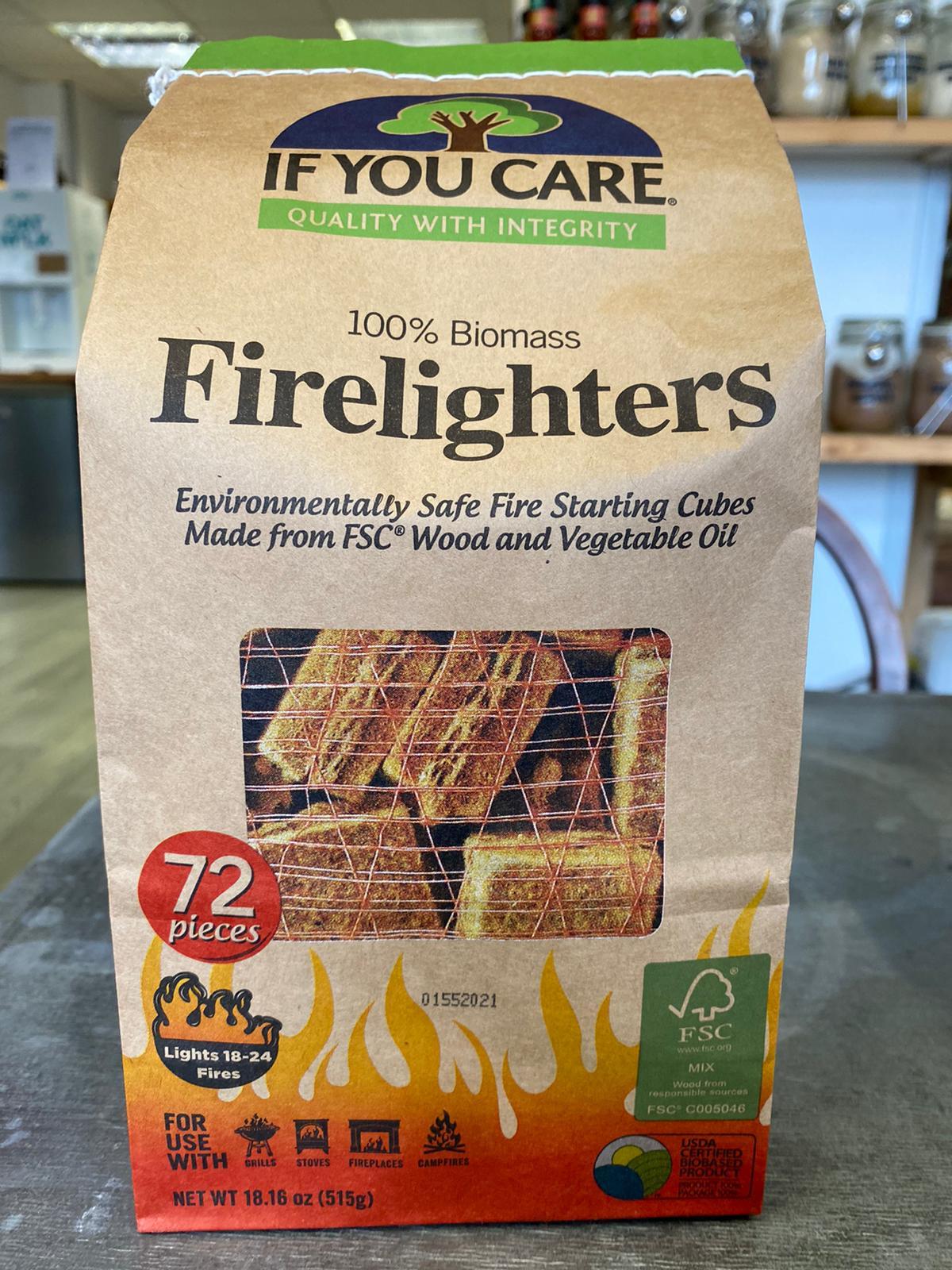 100% Biomass Firelighters 72 Pieces