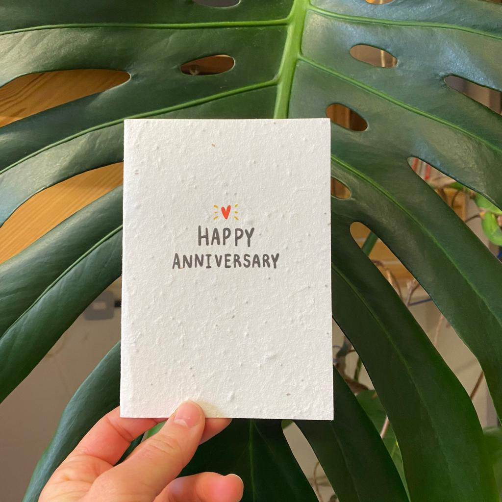 Happy Anniversary | Plantable Seed Paper Cards