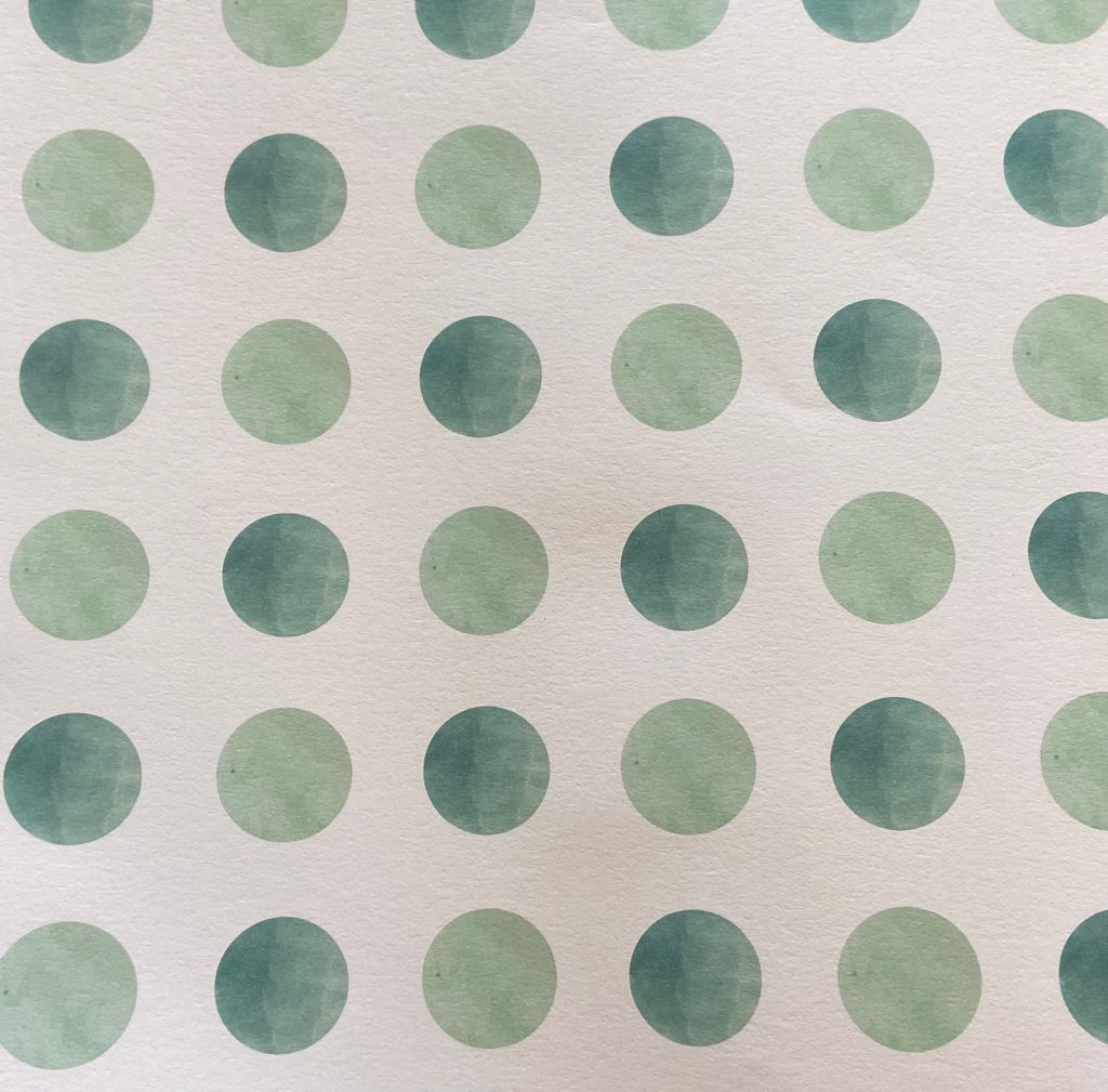 Recycled Gift Wrap Polka Dots