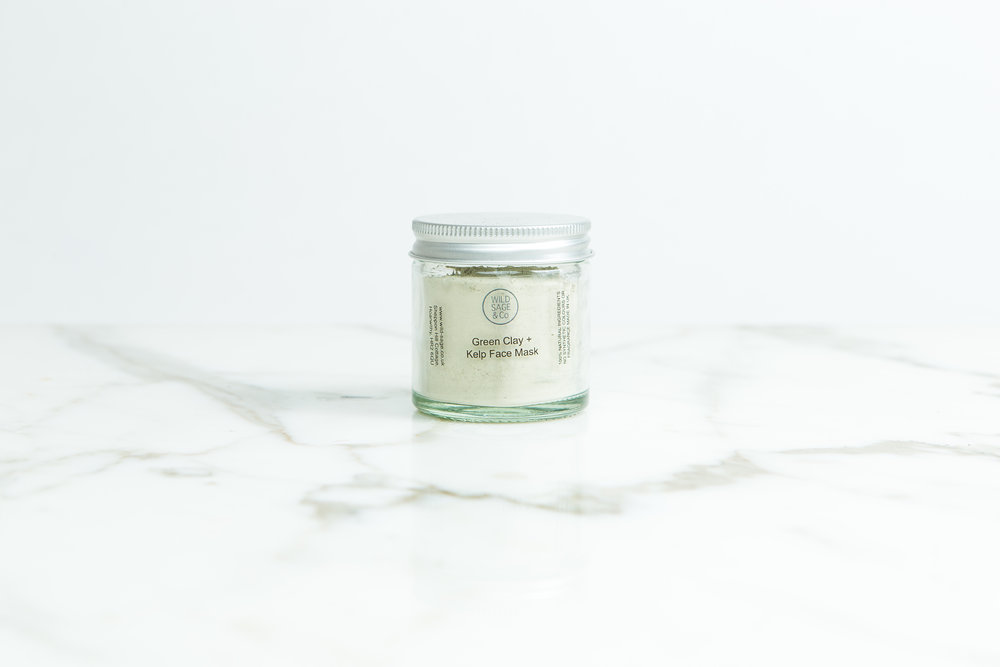 Green Clay & Kelp Face Mask | Wild Sage & Co