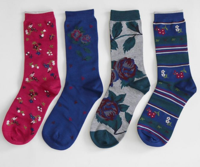 Rosie Flowers Bamboo Sock Gift Box | Thought Clothing