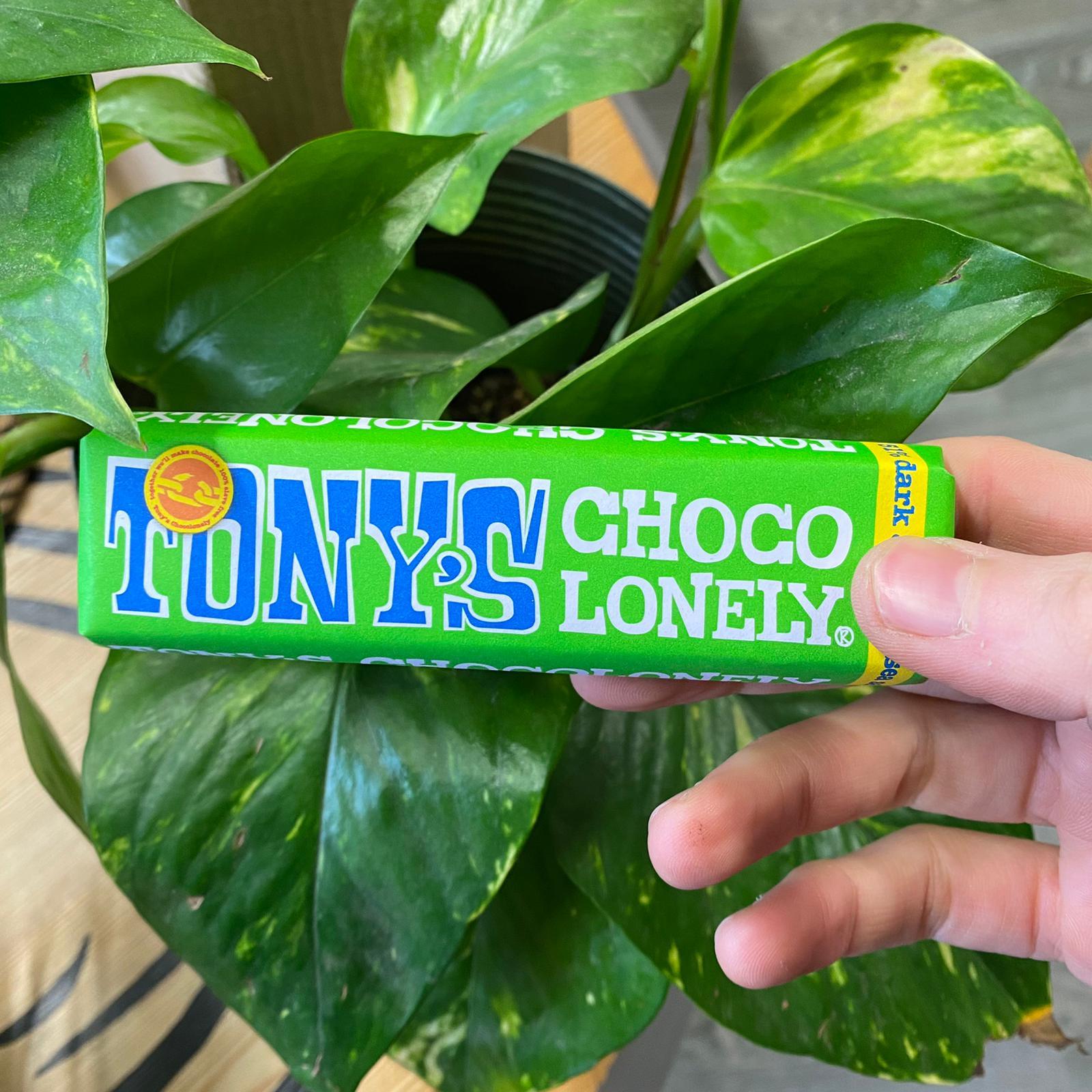 Mini Dark Almond Sea Salt 51% | Tony's Chocolonely