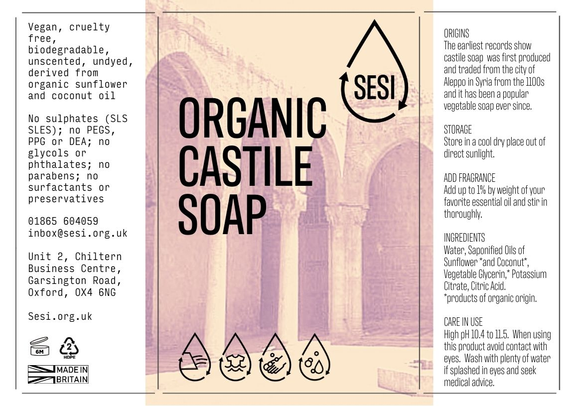Castile Soap Organic | SESI Refillable