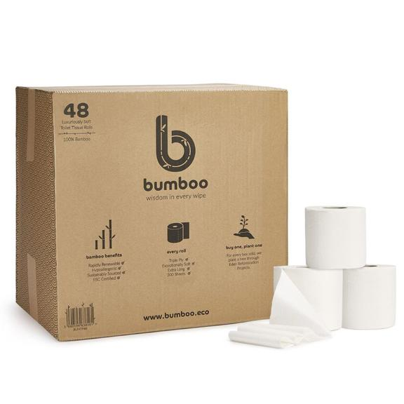 Luxury Bamboo Toilet Roll (Box, No Wrappers) | Bumboo