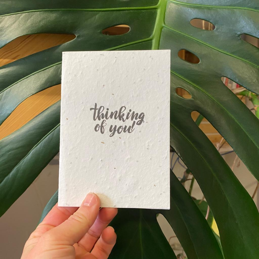 Thinking of You! | Plantable Seed Paper Cards