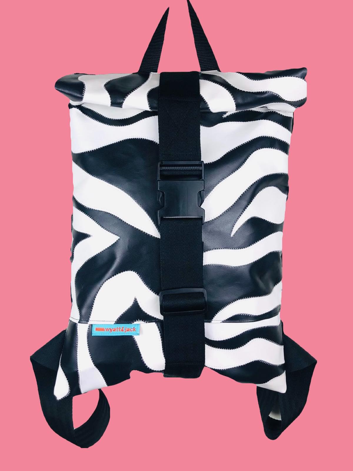 Zebra Print Rucksack   Wyatt & Jack