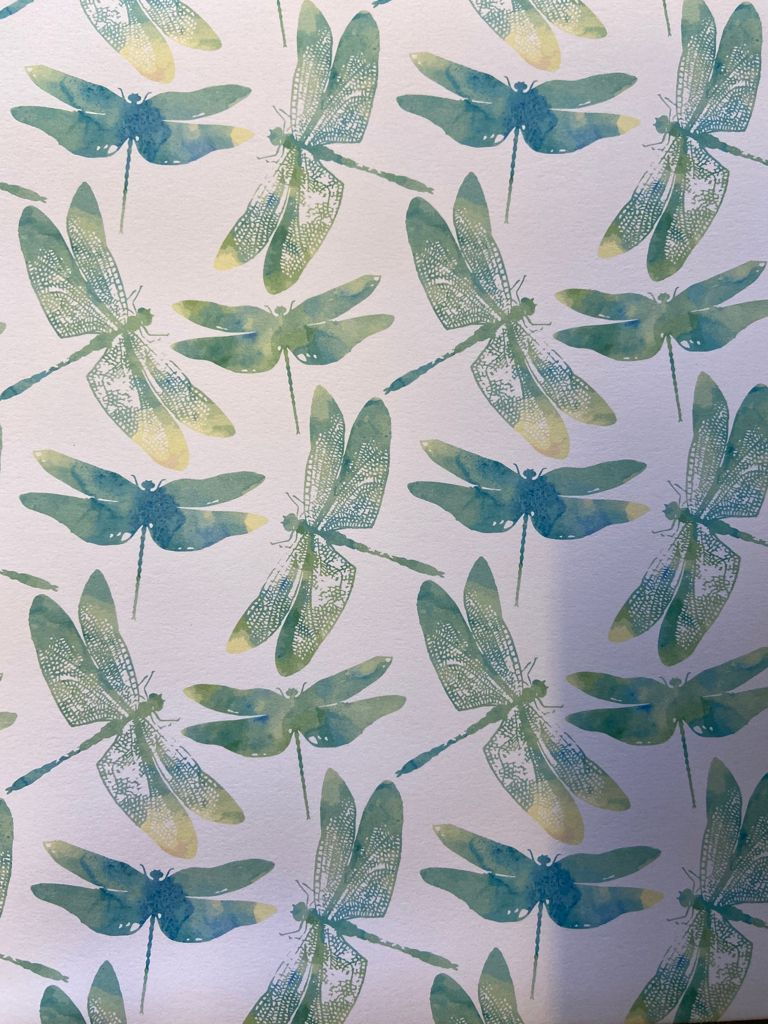 Recycled Gift Wrap Dragonfly