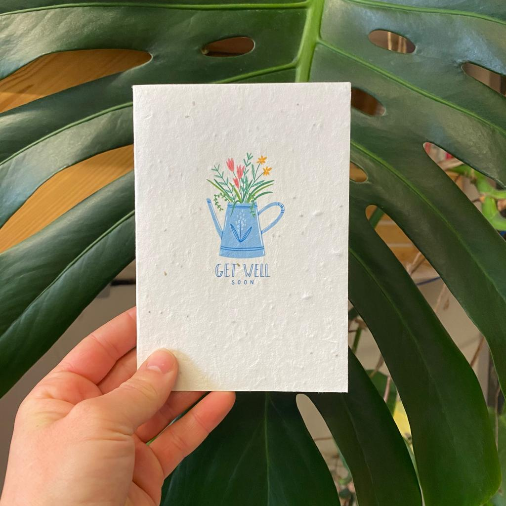 Get Well Soon | Plantable Seed Paper Cards
