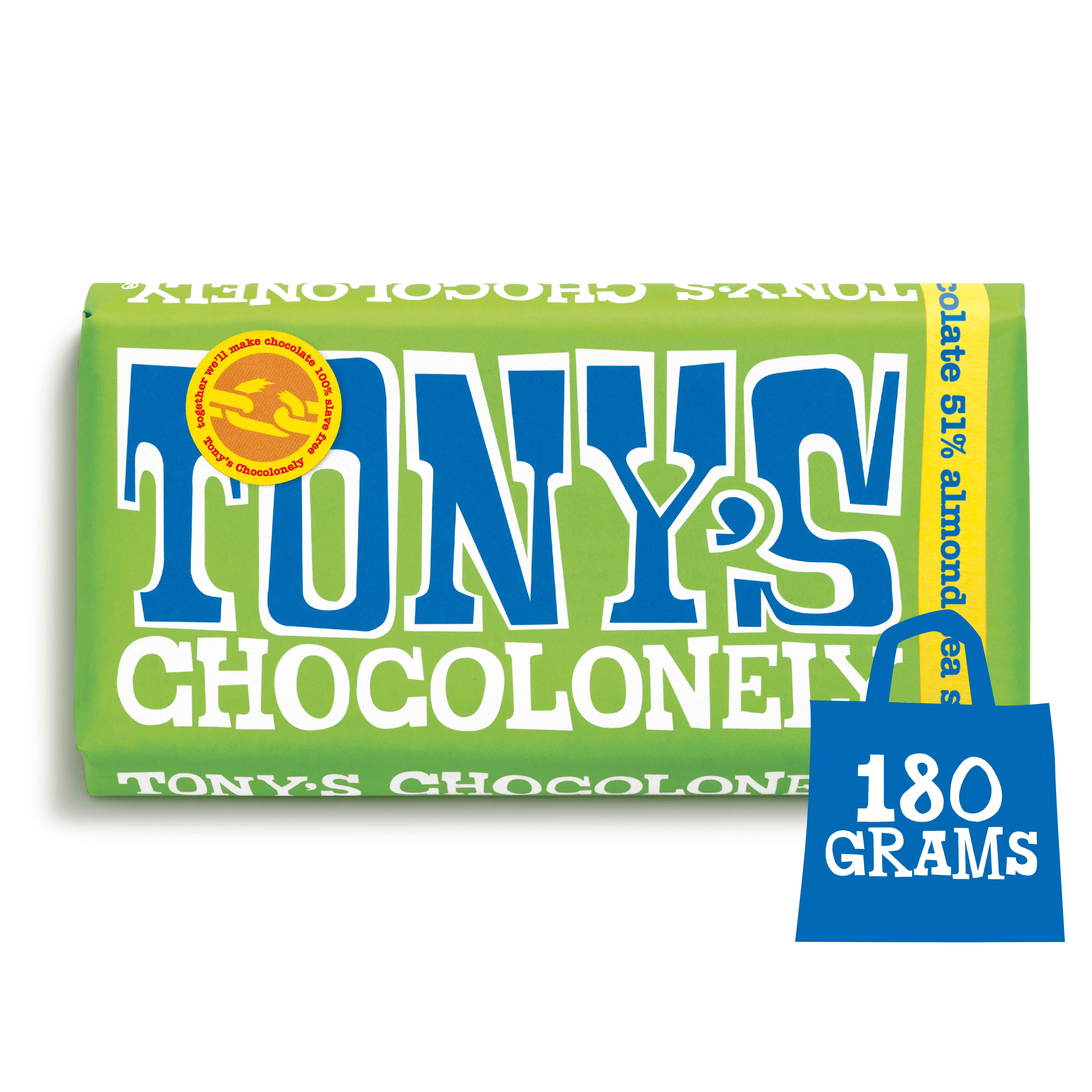 Dark Almond Sea Salt 51% | Tony's Chocolonely