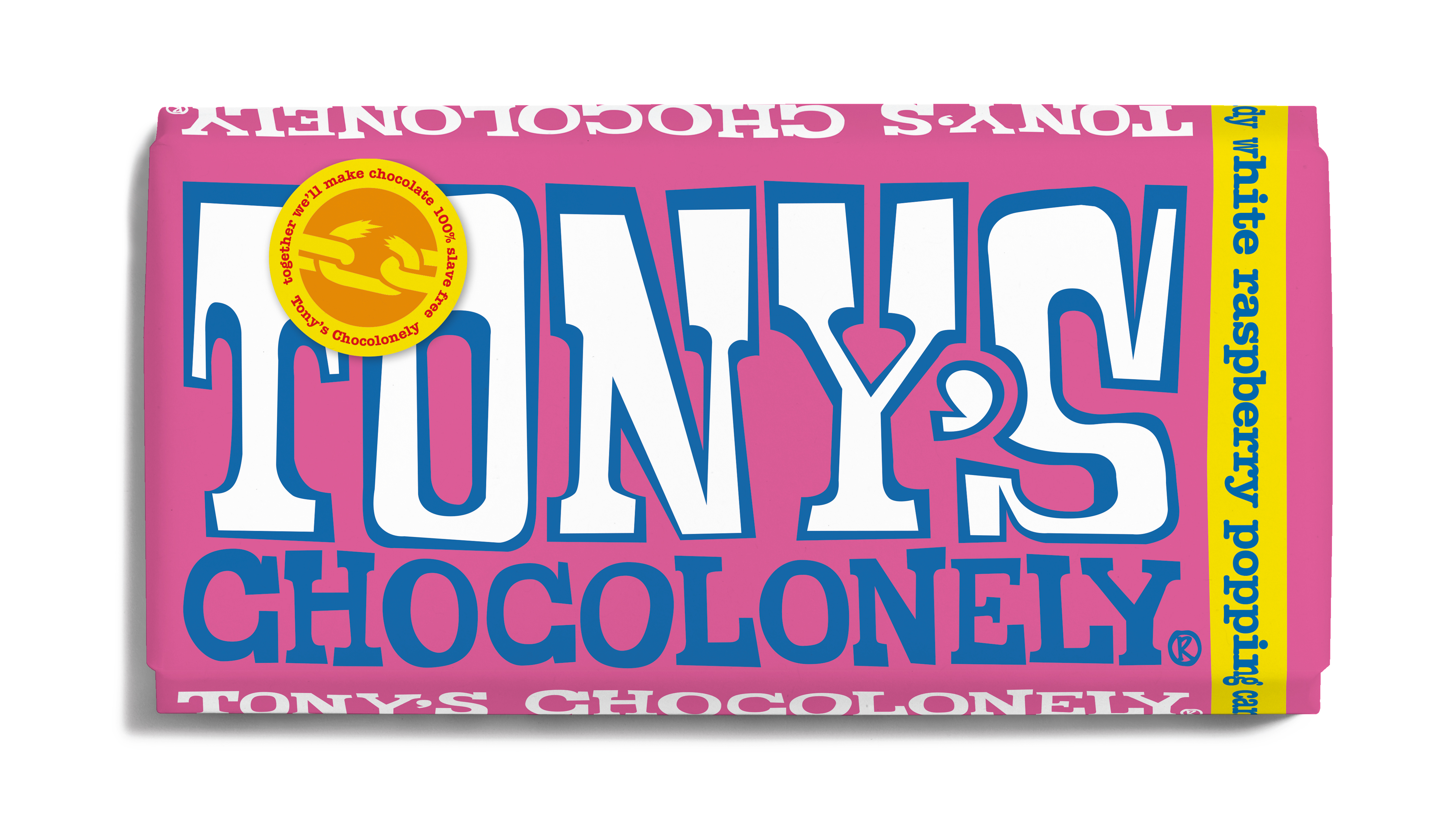 White Raspberry Popping Candy 28%   Tony's Chocolonely