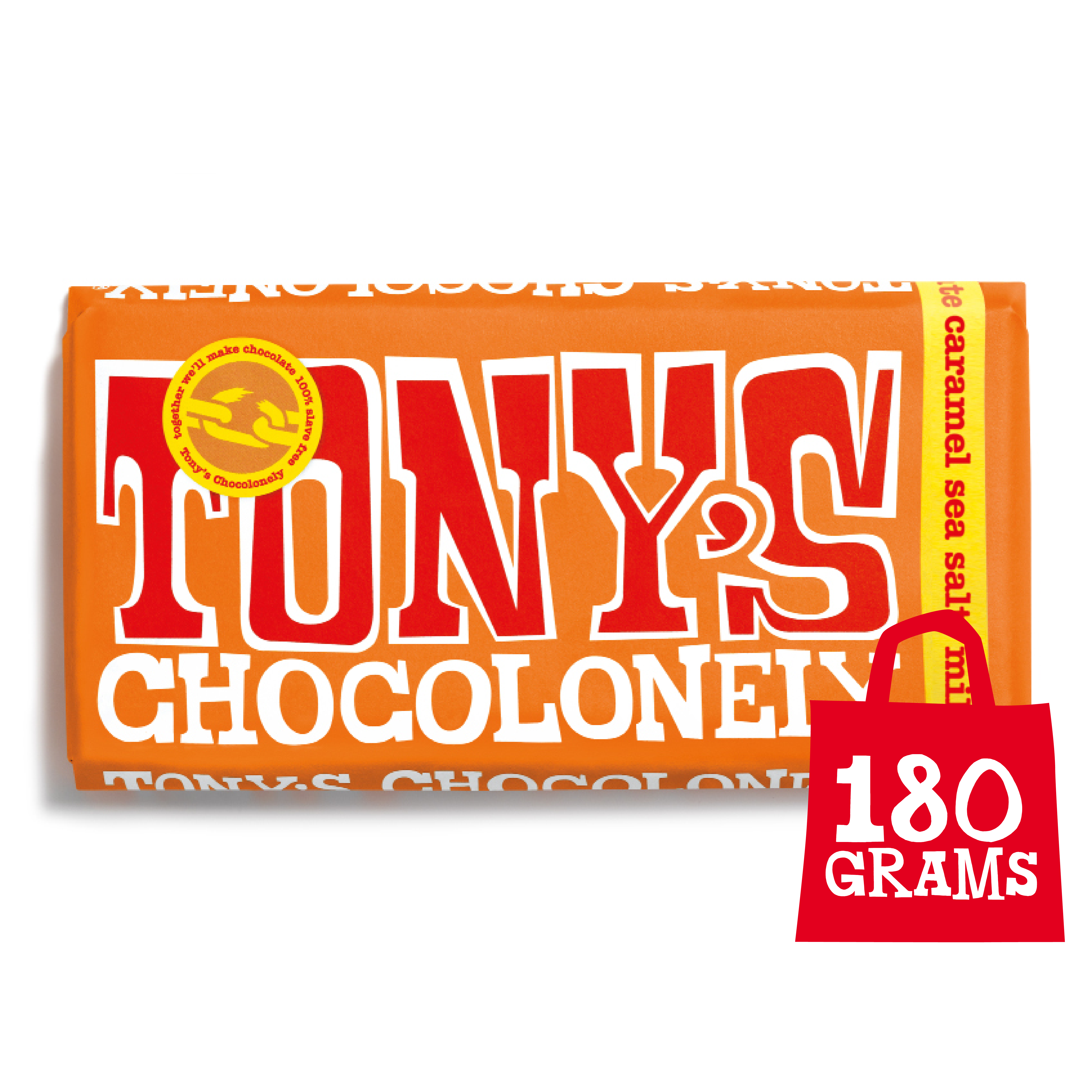 Milk Caramel Sea Salt 32% | Tony's Chocolonely