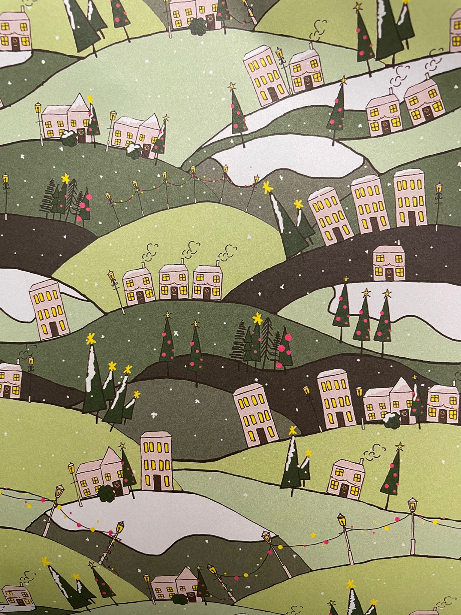 Rolling Hills, Wrapping Paper   Re-wrapped