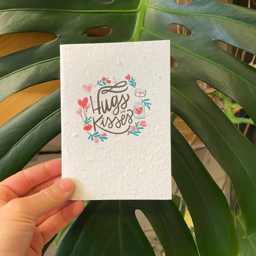 Hugs and Kisses | Plantable Seed Paper Cards