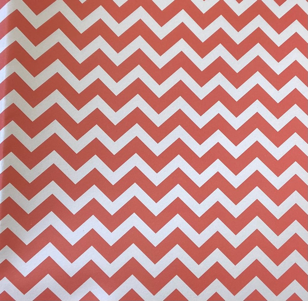 Recycled Gift wrap Zig Zags