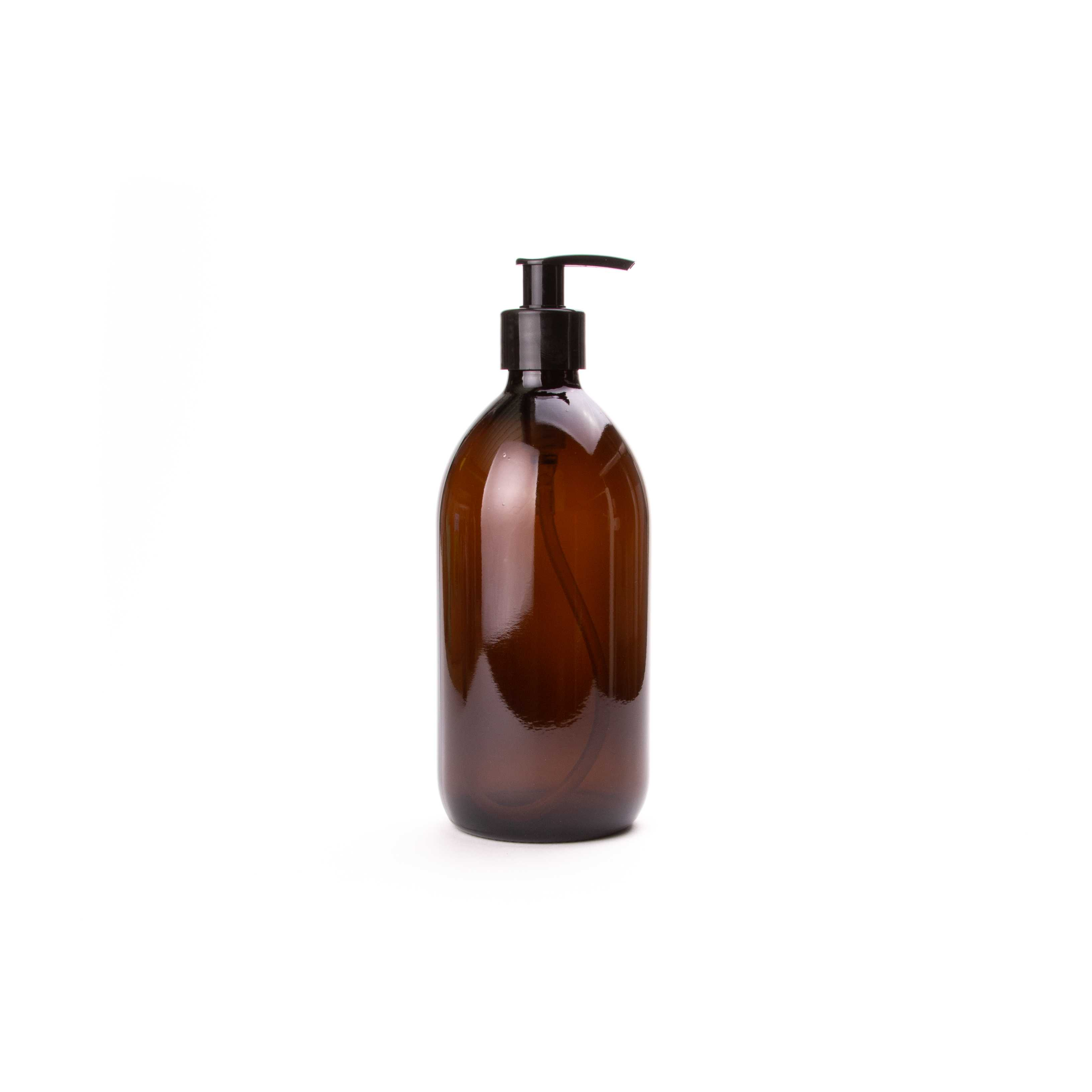 Amber Glass Pump Bottles