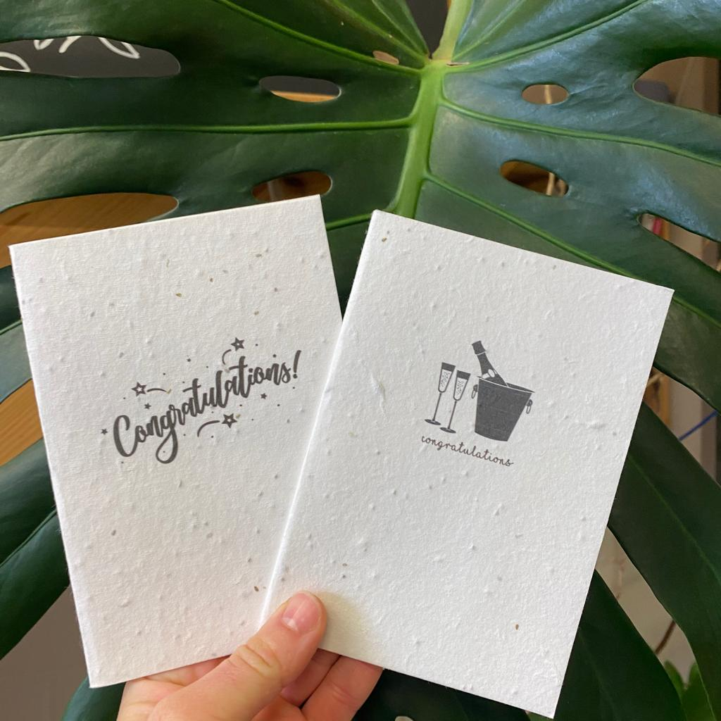 Congratulations | Plantable Seed Paper Cards