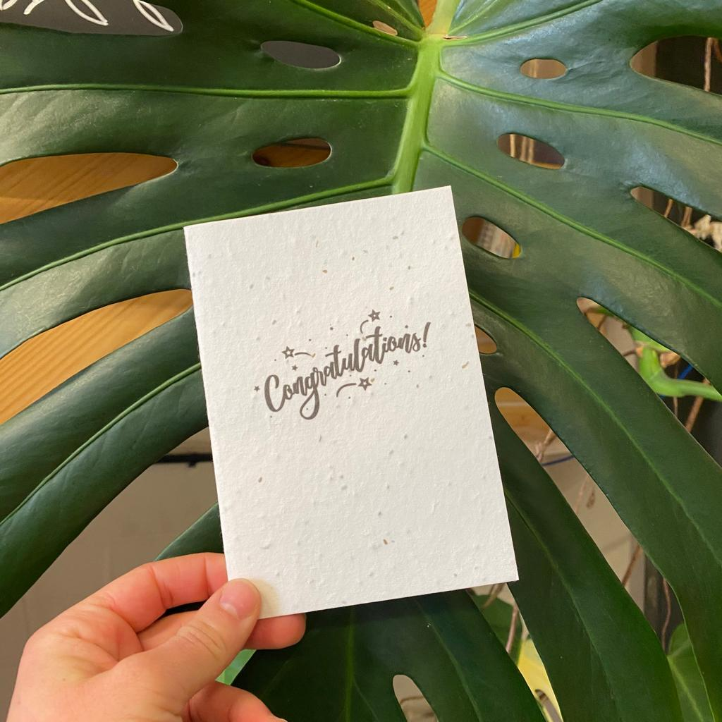 Congratulations   Plantable Seed Paper Cards