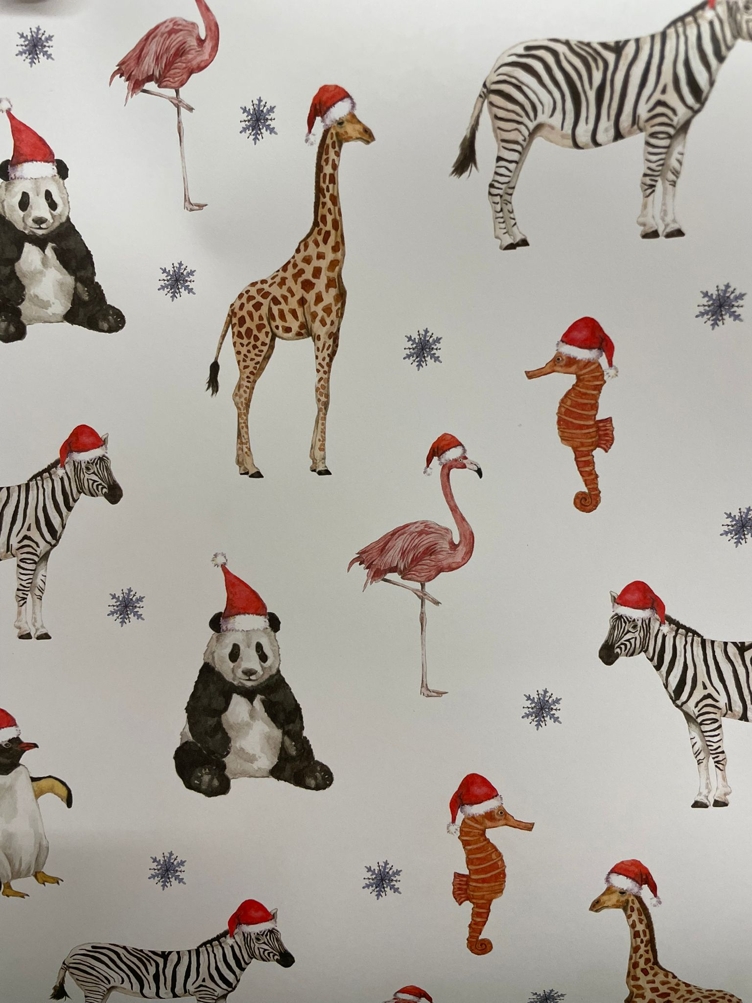 Christmas Animals Wrapping Paper   Re-wrapped