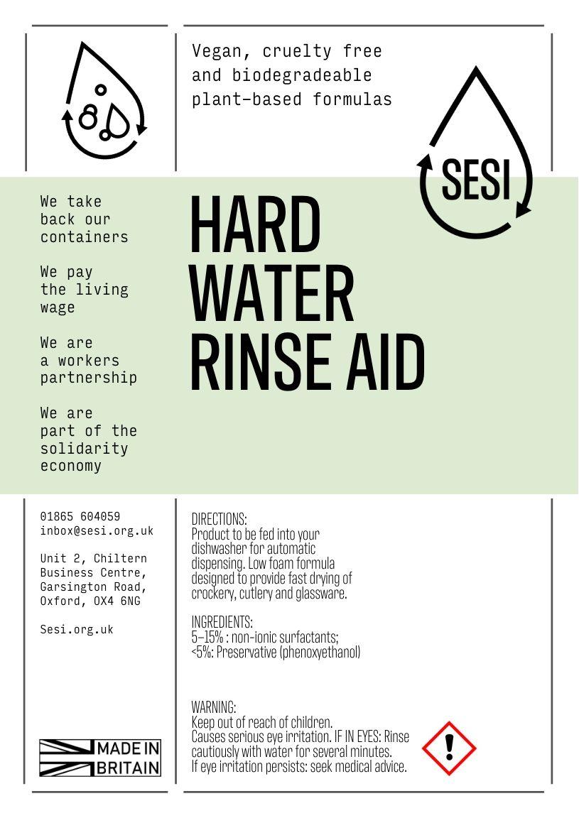 Rinse Aid Hard Water | SESI Refillable